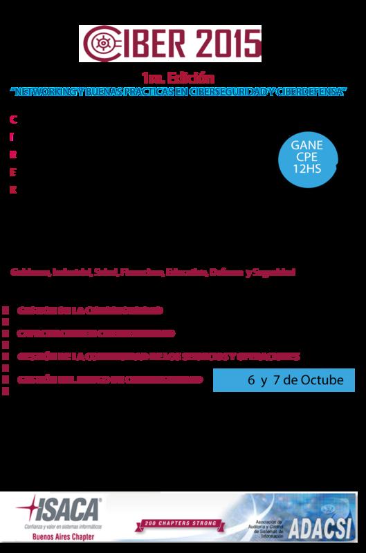 "1er. Encuentro de Ciberseguridad ""CIBER 2015″"